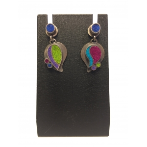 Two Part Paisley Earrings- Gem Palette